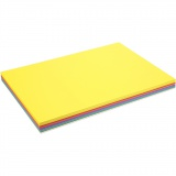 Farbkarton - Sortiment, Frühlingsfarben, A2, 420x600 mm, 180 g, 20 Bl./ 1 Pck