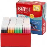 Berol Colourfine, Sortierte Farben, Strichstärke 0,3-0,7 mm, 288 Stck./ 1 Pck.