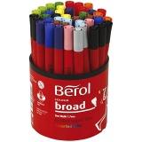 Berol Marker, Sortierte Farben, D: 10 mm, Strichstärke 1-1,7 mm, 42 Stck./ 1 Dose