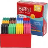 Berol Marker, Sortierte Farben, Strichstärke 1-1,7 mm, 288 Stck./ 1 Pck.