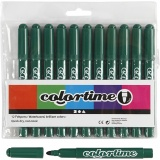 Colortime Filzstifte, Dunkelgrün, Strichstärke 5 mm, 12 Stck./ 1 Pck.