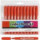 Colortime Filzstifte, Dunkelorange, Strichstärke 5 mm, 12 Stck./ 1 Pck.