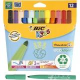 Visa Color Filzstifte - Sortiment, Sortierte Farben, Strichstärke 3 mm, 12 Stck./ 1 Pck.