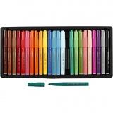 Visa Color Filzstifte - Sortiment, Sortierte Farben, Strichstärke 3 mm, 24 Stck./ 1 Pck.
