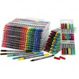 Colortime Dual-Filzstifte, Sortierte Farben, Strichstärke 2,3+3,6 mm, 260 Stck./ 1 Pck.