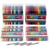 Colortime Dual-Filzstifte, Standard-Farben, Zusätzliche Farben, Strichstärke 2,3+3,6 mm, 24 Pck./ 1 Pck.