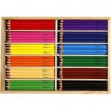 Buntstifte, Sortierte Farben, Mine 5 mm, JUMBO, 144 Stck./ 1 Pck.