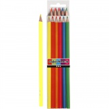 Colortime Buntstifte, Neonfarben, L: 17,45 cm, Mine 3 mm, 6 Stck./ 1 Pck.