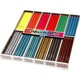 Colortime Buntstifte, Metallic-Farben, Neonfarben, L: 17,45 cm, Mine 3 mm, 144 Stck./ 1 Pck.