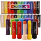 Soft Color Stick, Sortierte Farben, L: 8 cm, 120 Stck./ 1 Pck., 6,5 g