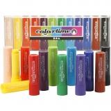 Soft Color Stick, Sortierte Farben, L: 8 cm, 12 Stck./ 1 Pck.