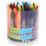 Colortime Farbkreide, Sortierte Farben, L: 10 cm, Dicke 11 mm, 48 Stk/ 1 Pck