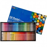 Mungyo Ölpastellfarben, Sortierte Farben, L: 7 cm, dicke 11 mm, 48 Stck./ 1 Pck.