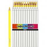 Colortime Buntstifte, Gelb, L: 17,45 cm, Mine 5 mm, JUMBO, 12 Stck./ 1 Pck.