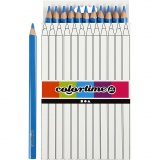 Colortime Buntstifte, Blau, L: 17,45 cm, Mine 5 mm, JUMBO, 12 Stck./ 1 Pck.