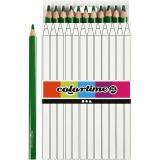 Colortime Buntstifte, Grün, L: 17,45 cm, Mine 5 mm, JUMBO, 12 Stck./ 1 Pck.