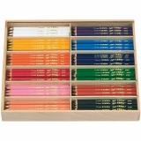 Super Ferby 1 Buntstifte, Sortierte Farben, L: 18 cm, Mine 6,25 mm, 12x12 Stck./ 1 Pck.