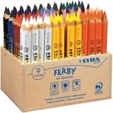 Super Ferby 1 Buntstifte, Sortierte Farben, L: 12 cm, Mine 6,25 mm, 96 Stck./ 1 Pck.