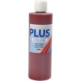 Plus Color Bastelfarbe, Altrot, 250 ml/ 1 Fl.