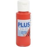 Plus Color Bastelfarbe, Brillantrot, 60 ml/ 1 Fl.