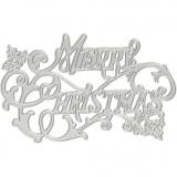 Stanz- und Prägeformen, Frohe Weihnachten, D: 11,5x7,2 cm, 1 Stck.