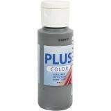 Plus Color Bastelfarbe, Dunkelgrau, 60 ml/ 1 Fl.