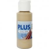 Plus Color Bastelfarbe, Dunkelbeige, 60 ml/ 1 Fl.