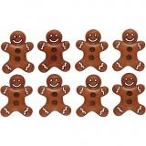 Figuren-Knöpfe, Eis-Cookies, H: 23 mm, B: 17 mm, 8 Stck./ 1 Pck.