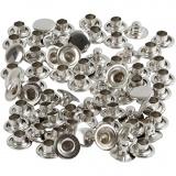 Nieten, Silber, D: 7 mm, 50 Stck./ 1 Pck.