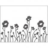 Prägeschablone, Blumen, Größe 11x14 cm, dicke 2 mm, 1 Stck.