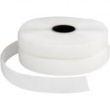 Klettband Haken & Ösen, Weiß, B: 20 mm, 5 m/ 1 Rolle