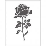 Prägeschablone, Rose, Größe 11x14 cm, dicke 2 mm, 1 Stck.