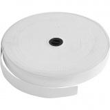 Elastikband, Weiß, B: 20 mm, 25 m/ 1 Rolle