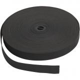 Elastikband, Schwarz, B: 20 mm, 25 m/ 1 Rolle