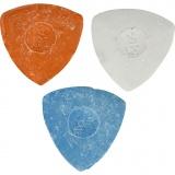 Schneiderkreide, Blau, Rot, Weiß, D: 5,5 cm, 3 Stck./ 1 Pck.