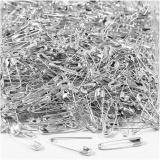 Sicherheitsnadeln, Silber, L: 22 mm, dicke 0,6 mm, 500 Stck./ 1 Pck.