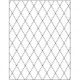 Prägeschablone, Rhomben, Größe 11x14 cm, dicke 2 mm, 1 Stck.