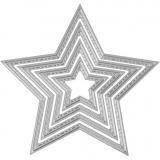 Stanz- und Prägeformen, Sterne, D: 3,5-11,5 cm, 1 Stck.