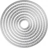 Stanz- und Prägeformen, Kreise, D: 1,5-7 cm, 1 Stck.