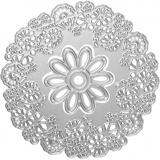 Stanz- und Prägeformen, Blüten-Design, D: 10,5 cm, 1 Stck.