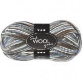 Sockenwolle, Harmonie in Blau-Grau, L: 200 m, 50 g/ 1 Knäuel