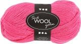 Sockenwolle, Pink, L: 200 m, 50 g/ 1 Knäuel