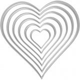 Stanz- und Prägeformen, Herzen, Größe 2,5x3-10x11 cm, 1 Stck.