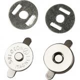 Magnetverschluss, D: 18 mm, 4 Stck./ 1 Pck.