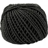 Papiergarn, Schwarz, Dicke 2,5-3 mm, 40 m/ 1 Knäuel, 150 g