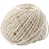 Papiergarn, Weiß, Dicke 2,5-3 mm, 40 m/ 1 Knäuel, 150 g