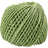 Papiergarn, Hellgrün, Dicke 2,5-3 mm, 40 m/ 1 Knäuel, 150 g