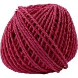 Papiergarn, Pink, Dicke 2,5-3 mm, 40 m/ 1 Knäuel, 150 g