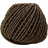 Papiergarn, Dunkelbraun, Dicke 2,5-3 mm, 40 m/ 1 Knäuel, 150 g