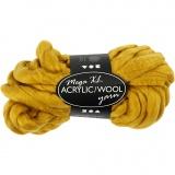 XL-Chunky-Garn aus Polyacryl/Wolle, Dunkelgelb, L: 15 m, Größe mega , 300 g/ 1 Knäuel